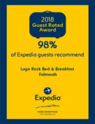 Expedia Award 2018 - Lugo Rock Bed & Breakfast Falmouth Cornwall