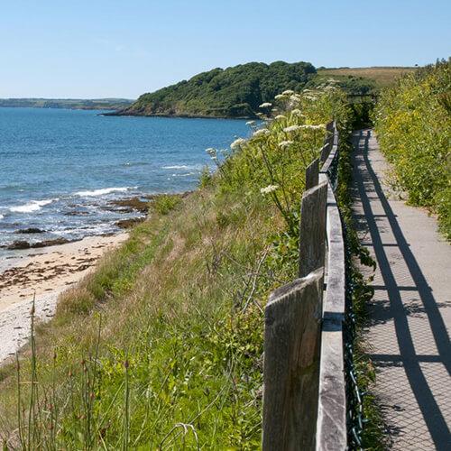 Gyllingvase beach path to Swanpool Falmouth Cornwall - Lugo Rock Bed & Breakfast